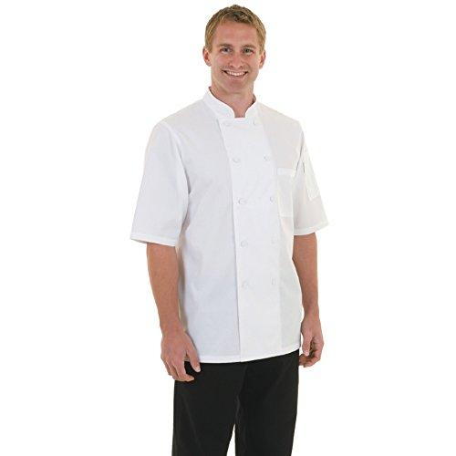 Chef Works a914-m Basic Montreal Basic CoolVent Kochjacke, Größe M, weiß