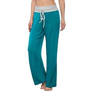 Women's Comfy Pajama Pants Casual Stretch Pant Drawstring  Lounge Pan...