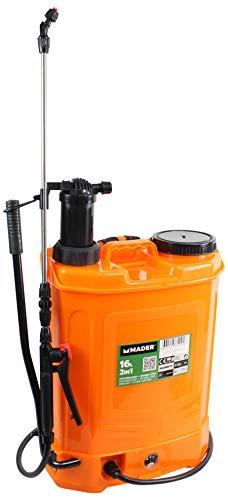 Mader Garden Tools 69092 Pulverizador 2 en 1 con Batería Litio y Manual, 16L, 12V, 8A