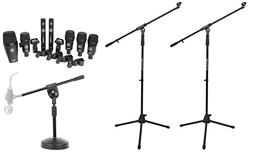 drum overhead mics AKG Drum Set Session I 7) Microphones Bass/Overhead/Snare/Tom+Clamps+Case+Stands