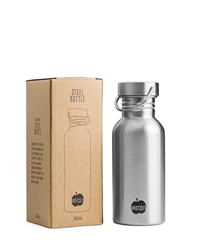 Trinkflasche aus einwandigem Edelstahl von
