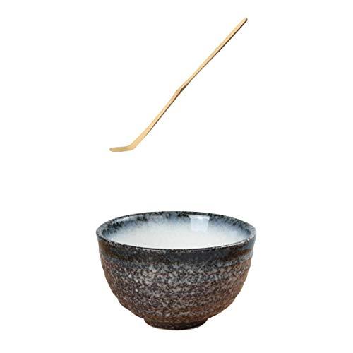 F Fityle Bol à Thé en Céramique Cérémonie Japonaise Bol Matcha Durable