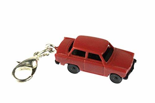 Miniblings Trabbi Auto DDR Charm Trabant Trabi rot - Handmade Modeschmuck I Kettenanhänger versilbert - Bettelanhänger Bettelarmband - Anhänger für Armband