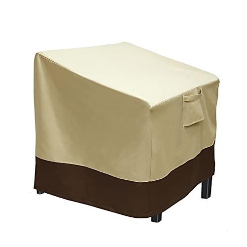 Kabxhueo Anti Polvere Giardino Sedia Covers,Anti-UV Impermeabile Terrazza Copertura per Sedie,Protettore per All'aperto Sedie Pranzo,per sedie Protezione (caffè di Riso),L: 35''W x 38''D x 31''H