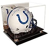 Cardboard Gold Deluxe Acrylic Football Helmet Display Case with Mirror Back