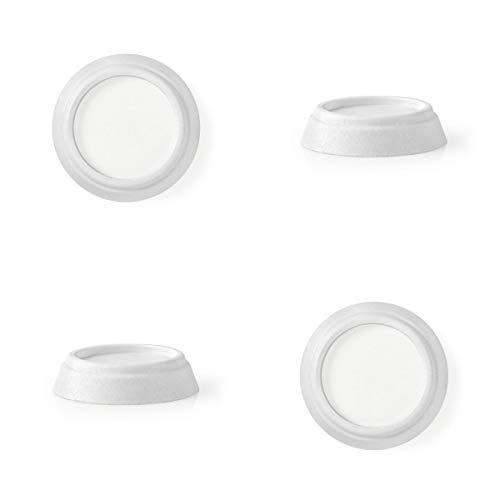 Eurosell Gummi-Schwingungsdämpfer - Vibrationsdämpfer für Füße für Waschmaschinen und Trockner Schwingungs Vibration Dämpfung Stoßdämpfer