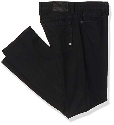 Silver Plate Rocco 709 Pantalones para Hombre, Color Negro, 30