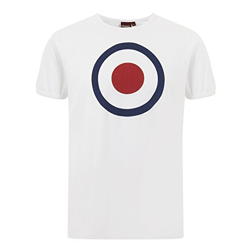 Merc of London Ticket, T-Shirt, Blanc (White), Medium (Taille fabricant: M) Homme
