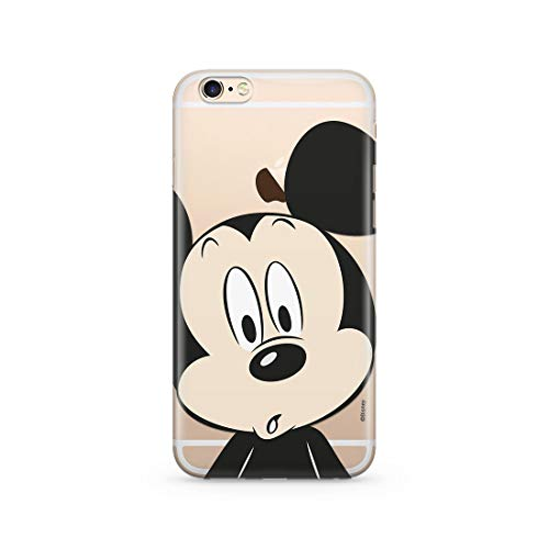 Estuche para iPhone 6/6S Disney Mickey y Minnie Original con Licencia Oficial, Carcasa, Funda, Estuche de Material sintético TPU-Silicona, Protege de Golpes y rayones