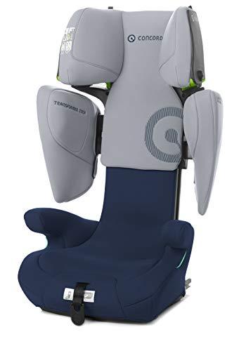 Concord Transformer iTech Silla de Coche iSize, de 100 a 150 cm, de 3,5 a 12 años, Isofix, Color Azul (WHALE BLUE)