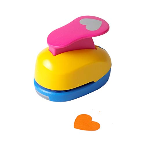 Heart Punch 1 inch Craft Lever Punch Handmade Paper Punch Candy Color by Random?Candy Heart?