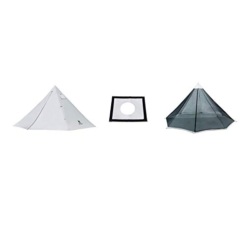 OneTigris Smokey HUT Ultralight Hot Tent + Stove Jack + Mesh Teepee