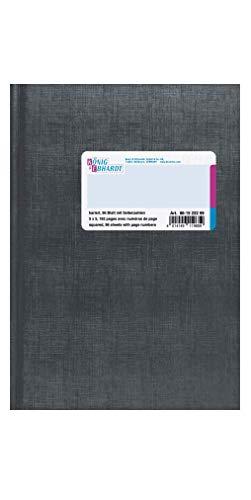 König & Ebhardt 861522299 Geschäftsbuch (A5, kariert, 80g/m², 96 Blatt Fadenheftung mit Seitenzahl)