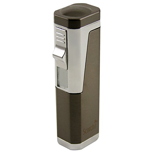 Scorch Torch Skyline Triple Jet Flame Torch Cigarette Cigar Lighter with Cigar Punch Cutter Tool (Gun Metal)