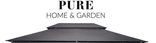 Pure Home & Garden Ersatzdach für Pavillon Capiata Anthrazit, ca. 300 x 400 cm, wasserabweisend mit UV-Schutz 40 Plus