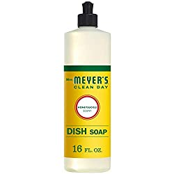 Mrs. Meyer's Clean Day Liquid Dish Soap, Honeysuckle Scent, 16 ounce bottle