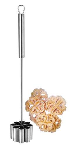 IBILI Backform Blumenrosette gerade 6,2x4 cm aus Edelstahl, Silber, 16 cm