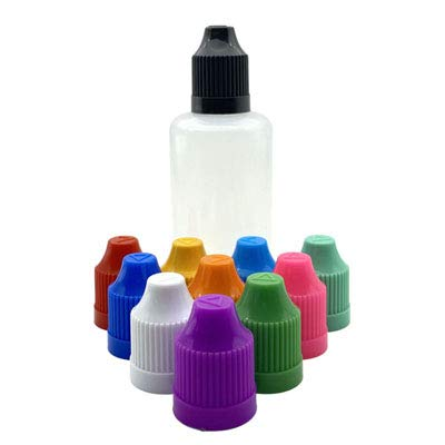 ROYAL STAR TY 100pcs 3ml 5ml 10ml 15ml 20ml 30ml 50ml 60 ml 100 ml 120 ml E Botellas de plástico líquido con Tapa Impermeable Aguja Vail (Color : Mix Cap, Specifications : 60ml Pen Shape)