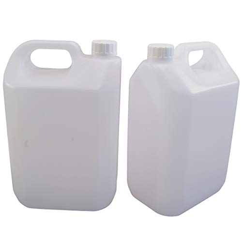 Home Brew & Wine Making - 2.5 Litre (1/2 Gallon) Jerrican Style Plastic Bottle with Handle - Pack of 2