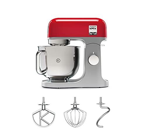 Kenwood KMX750RD Impastatrice Planetaria Kitchen Machine kMix, Robot da Cucina Mixer, 1000 W, 5 Litri, Acciaio, Plastica, Rosso