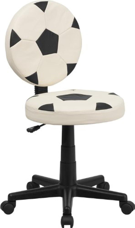 Flash Furniture BT-6177-SOC-GG Soccer Task Chair, Black White