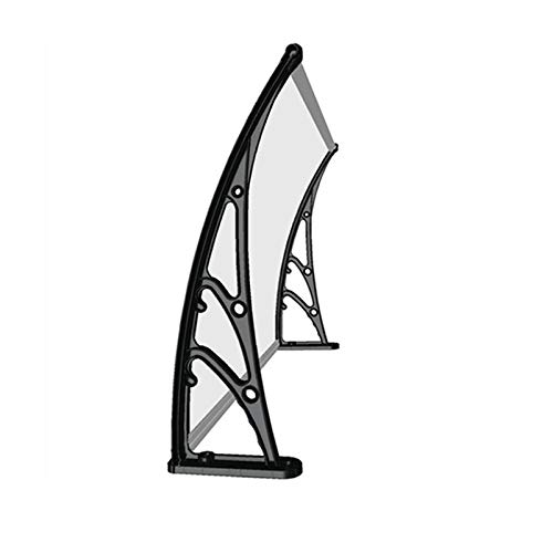 LINGZE Awning/canopy, Decoration Entry Door Cover Aluminum Alloy Bracket/Mute Transparent PC Board, Suitable for Front Door, Air Conditioner, Balcony