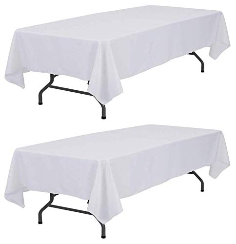 Wealuxe White Tablecloth 60x126 ...