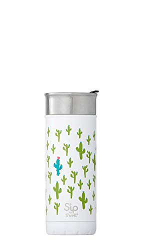 S'ip by S'well Stainless Steel Travel Mug, 16oz, Looking Sharp