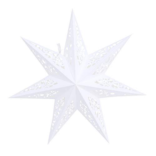BESPORTBLE 45CM Papierstern Lampe Papier Weihnachtssterne mit Beleuchtung 3D Leuchtstern Fensterdeko Stern Weihnachten Beleuchtet Christbaumspitze für Weihnachtsbaum Deko