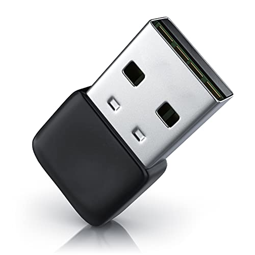 CSL - USB Bluetooth 5.0 Stick Mini - BT V5.0 Adapter - Wireless Dongle - für PC Laptop - Sender und Empfänger Bluetooth Kopfhörer, Headset, Lautsprecher, Mäuse, Tastaturen - 3 Mbit/s - Windows 8 10