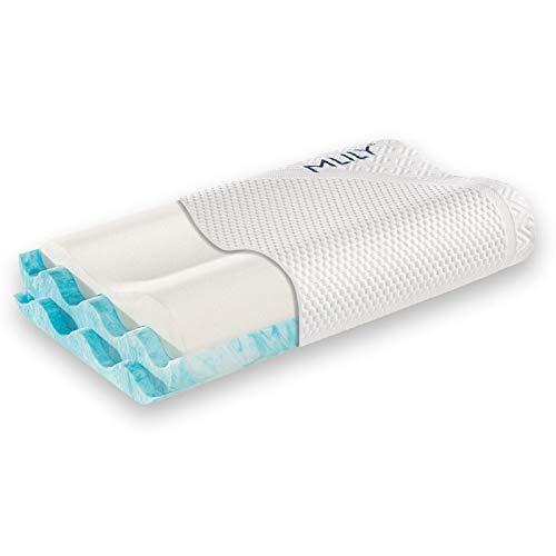 Matratzen Concord Nackenkissen MLILY Soft 60x35cm, Nackenstützkissen Bezug waschbar, kühlendes Kissen, Kissen ergonomisch für den Nacken