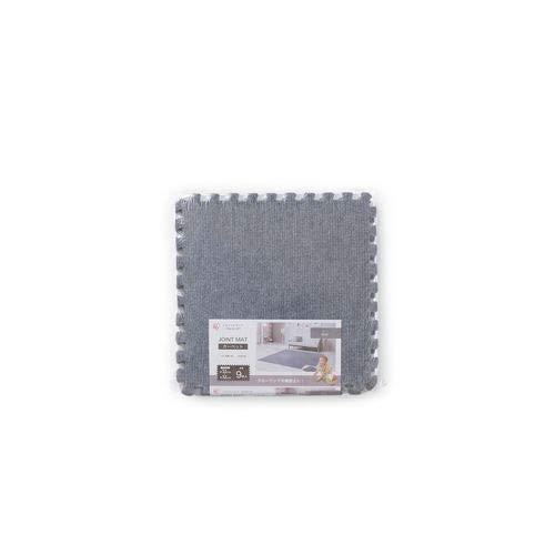 【9枚セット】アイリスオーヤマジョイントマットタイルカーペットグレー幅320×奥行320×高さ6mmカーペットタイプJTM-32(CPT)