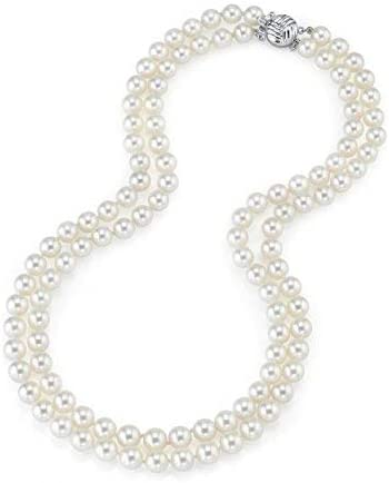 Max 90% OFF Nashville-Davidson Mall THE PEARL SOURCE 14K Gold 7-8mm AAA Double Strand White Quality