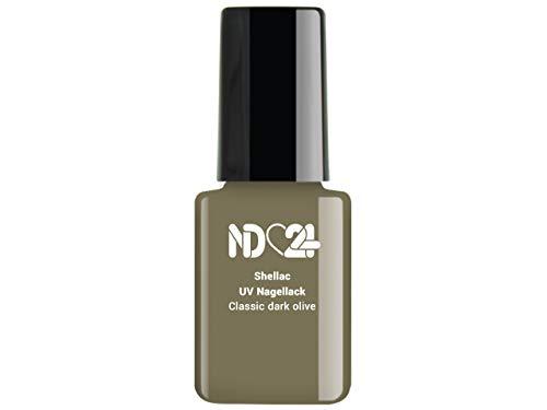12ml - SHELLAC UV/LED Nagellack - Classic dark olive - GRÜN - Polish Gel-Lack Soak Off - Studio...