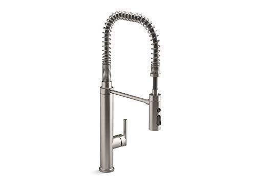 Kohler 24982-VS Purist Kitchen Sink Faucet, Vibrant Stainless