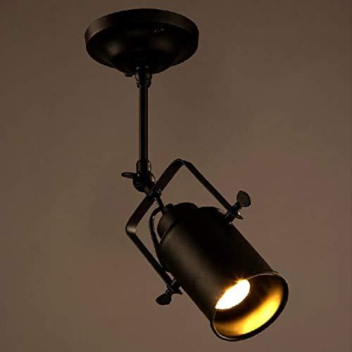 TQQ Iluminación colgante Lámpara Spotlight Simple, Loft Industria Pendiente De La Lámpara, Lámpara De Casquillo Giratoria Colgantes Accesorios De Iluminación, Luz Del Accesorio Del Techo Del Pasillo B