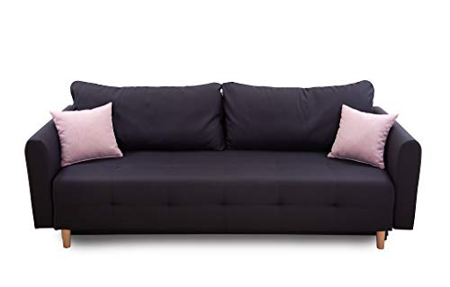 Collection AB Scandinavia Bettfunktion und Bettkasten Schlafsofa, Stoff, Anthrazit, 86 x 219 x 93 cm