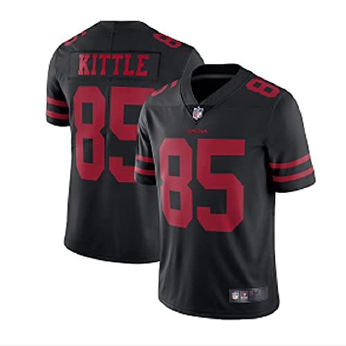 Hamaio San Francisco 49ers -85# kittle Fan Jersey, Felpa con Maniche Corte Ricamata T-Shirt, Football Americano Maglia(XX-Large)