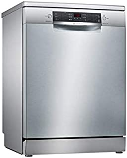 Bosch 60 cm, 6 Programs 13 Place Settings Free Standing Dishwasher, Silver - SMS46KI10M, 2 Years Manufacturer Warranty