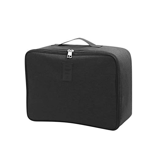 Attachable Trolley Case Luggage Large Capacity Travel Storage Bag Oxford Cloth for Easter Black