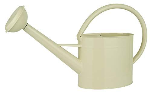 IB Laursen Gießkanne Kanne Giesskanne Creme 5 Liter Metall mit Ausguß Gartenkanne Zink L50xH29cm 4233-01