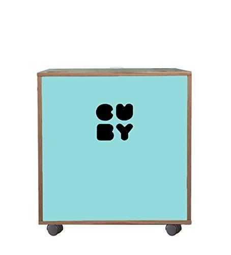 CUBY Aufbewahrungsbox Spielzeugkiste auf Rollen, stapelbar, B-Ware (fresh green)