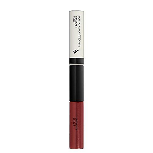 Manhattan Lips2Last Colour&Gloss, Lippenfarbe und Lipgloss in einem, Farbe Rosewood Kiss 59N, 1 x 8ml