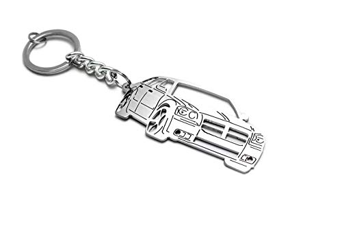 AWA Stainless Steel Keychain Suitable for Dodge Magnum Enthusiasts Laser Cut Key Chain with Ring Car Body Profile Design 3D Keychain