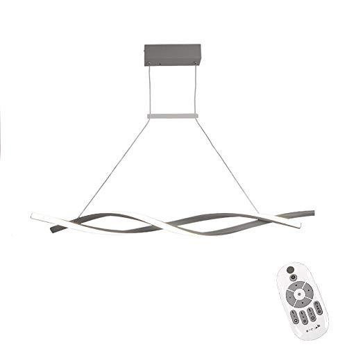 Lámpara colgante de techo LED Iluminación moderna creativa en espiral Diseño colgante Lámpara regulable control remoto Lámpara de arana hierro nórdico interior Comedor Oficina Cafetería Bar