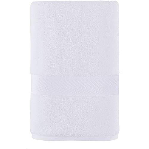 Tommy Hilfiger Handtuch, 100 % Baumwolle, modernes amerikanisches Design, 40,6 x 66 cm, Hellweiß