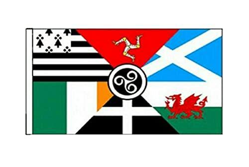 The Celtic Nations-Bretagne (Écosse, Pays de Galles, Irlande Isle of Man Drapeau de Cornouailles) - 150 cm x 90 cm