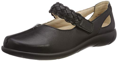 hotter Women's Shake Wide Fit Mary Jane Black 6 US Mary Jane