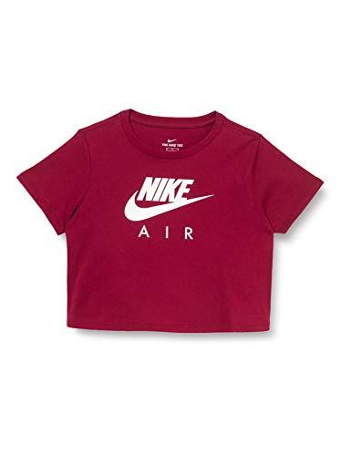 NIKE Air Crop T-Shirt Camiseta para niños, Infantil, Rojo Oscuro/Blanco, Extra-Large