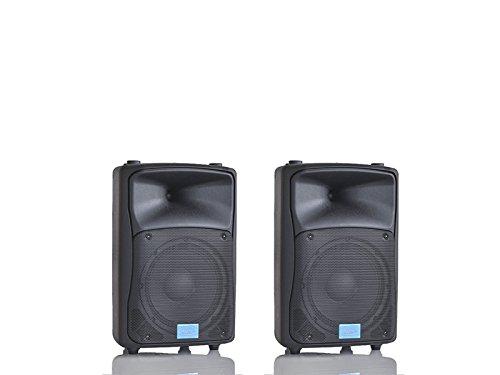 MPE - coppia casse bi amplificate attive acustiche 800 watt musicali 8' 20 CM MADE IN ITALY diffusori piano bar dj karaoke discoteca PA mod: DJ-8AL